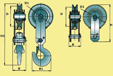 Блоки монтажные предназначены для применения в качестве отводных и подвесных блоков, для составления полиспастов...