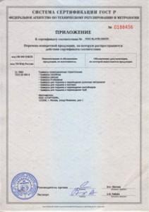 Приложение к сертификатуСтарткомМ