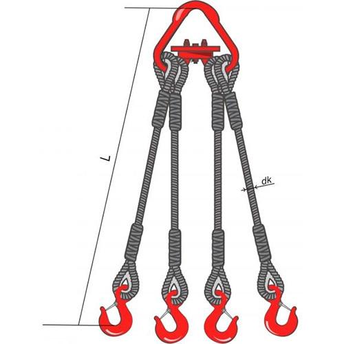 Четырёхветвевой канатный строп 4СК