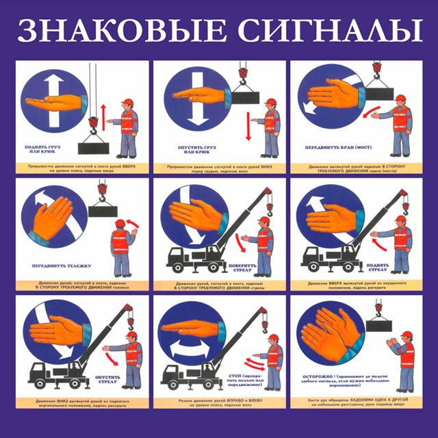 Знаковые сигналы стропальщика